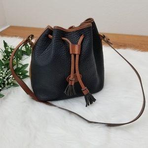 Vintage Dooney & Bourke Drawstring Bucket Bag Blk
